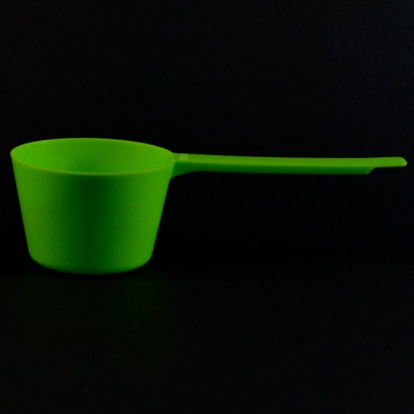 Plastic Measuring Scoop Spoon 90cc Green Long Handle_3693