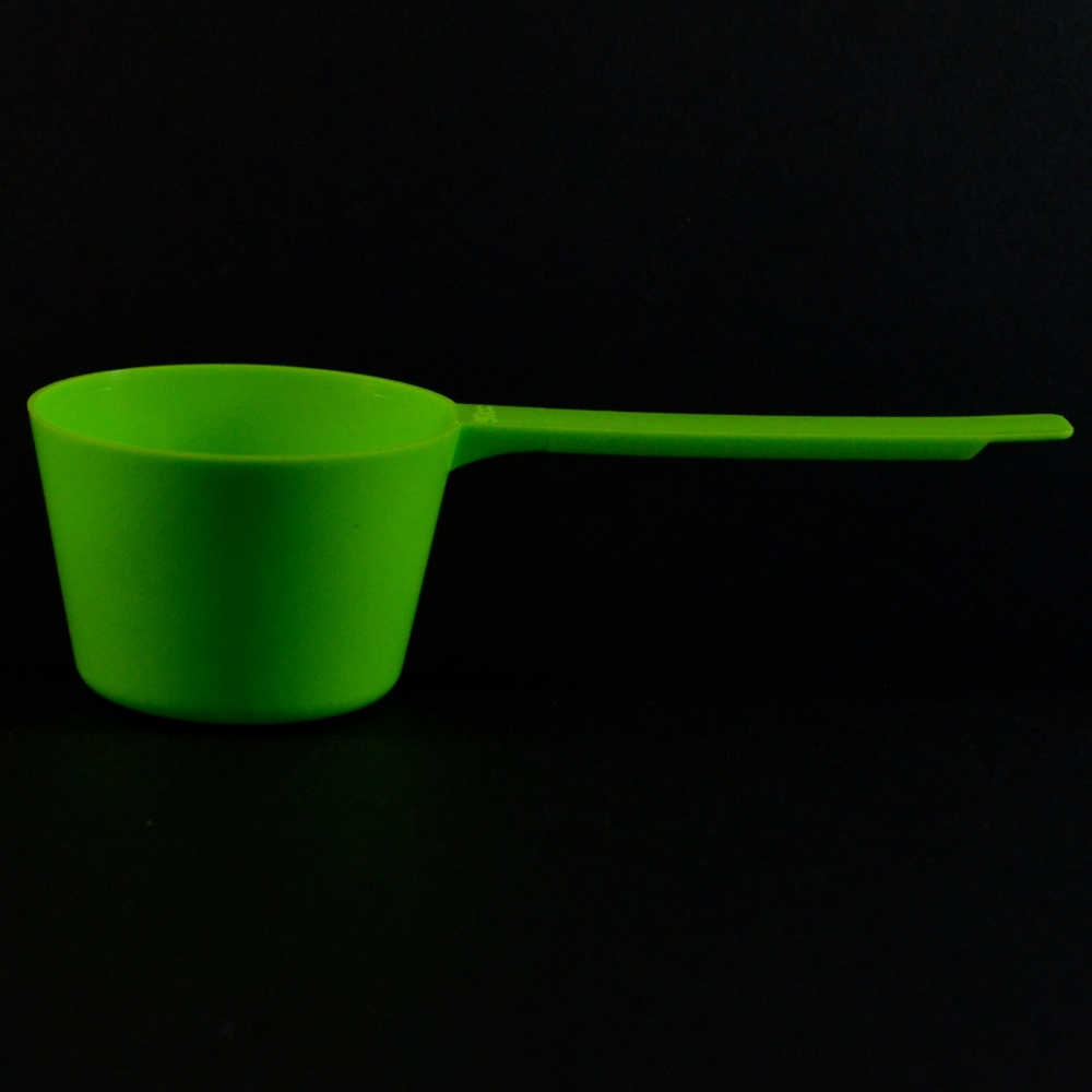 90 cc Plastic Measuring Scoop Green Long Handle 5.978 X 2.478 X 1.652