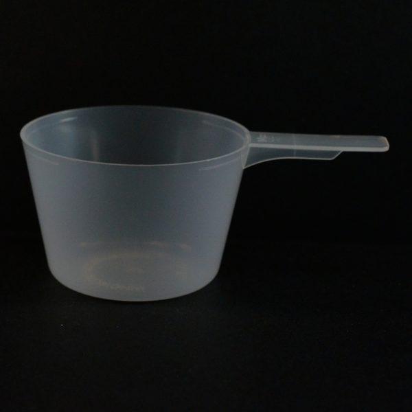 Plastic Measuring Scoop Spoon 94cc Natural Short Handle_3696