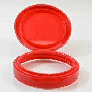 Plastic Symphony Jar Lid 70mm Red_1867