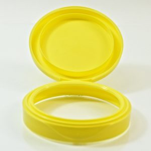 Plastic Symphony Jar Lid 70mm Yellow_1869