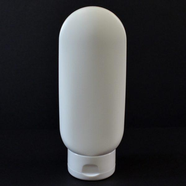 Plastic Tube 6 oz. Princess Oval HDPE White 22-400_2966