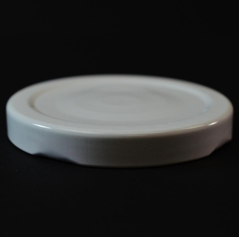 63/2030 Regular Twist Open with Button White Metal Cap / Plastisol Liner