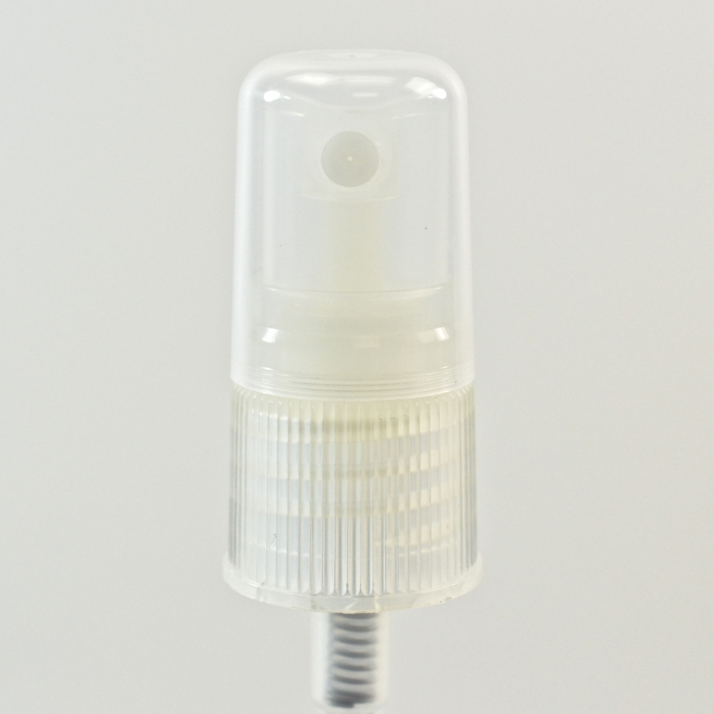 18/415 Ribbed Clear Fine Mist Sprayer PP Hood