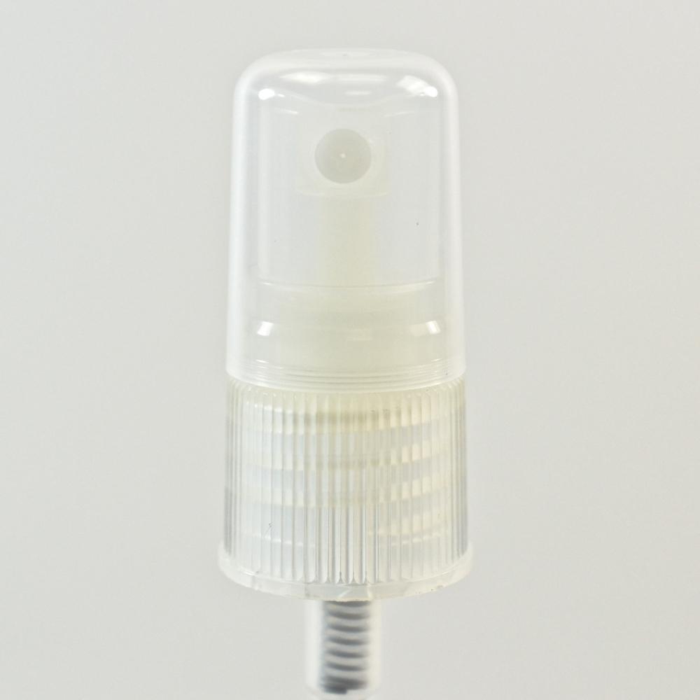 18/415 Ribbed Clear Fine Mist Sprayer PP Hood