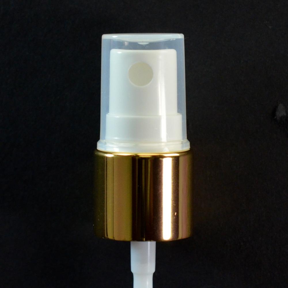 18/415 Fine Mist Sprayer Shiny Gold/White/Clarified Hood