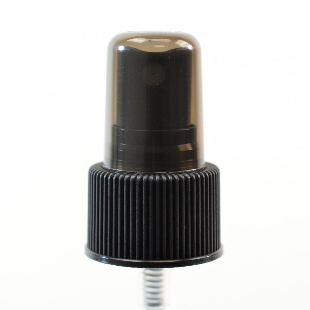 24/410 Ribbed Black Fine Mist Sprayer PP Hood DT 7 11/16″