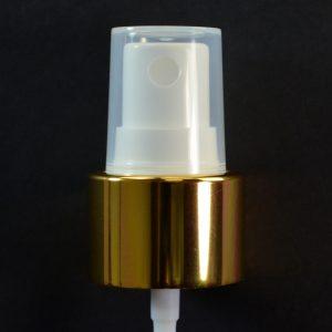 Spray Pump 24-410 White with Shiny Gold Collar Clarified Hood_1719