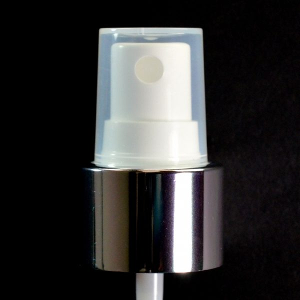 Spray Pump 24-410 White with Shiny Silver Collar Clarified Hood_1720