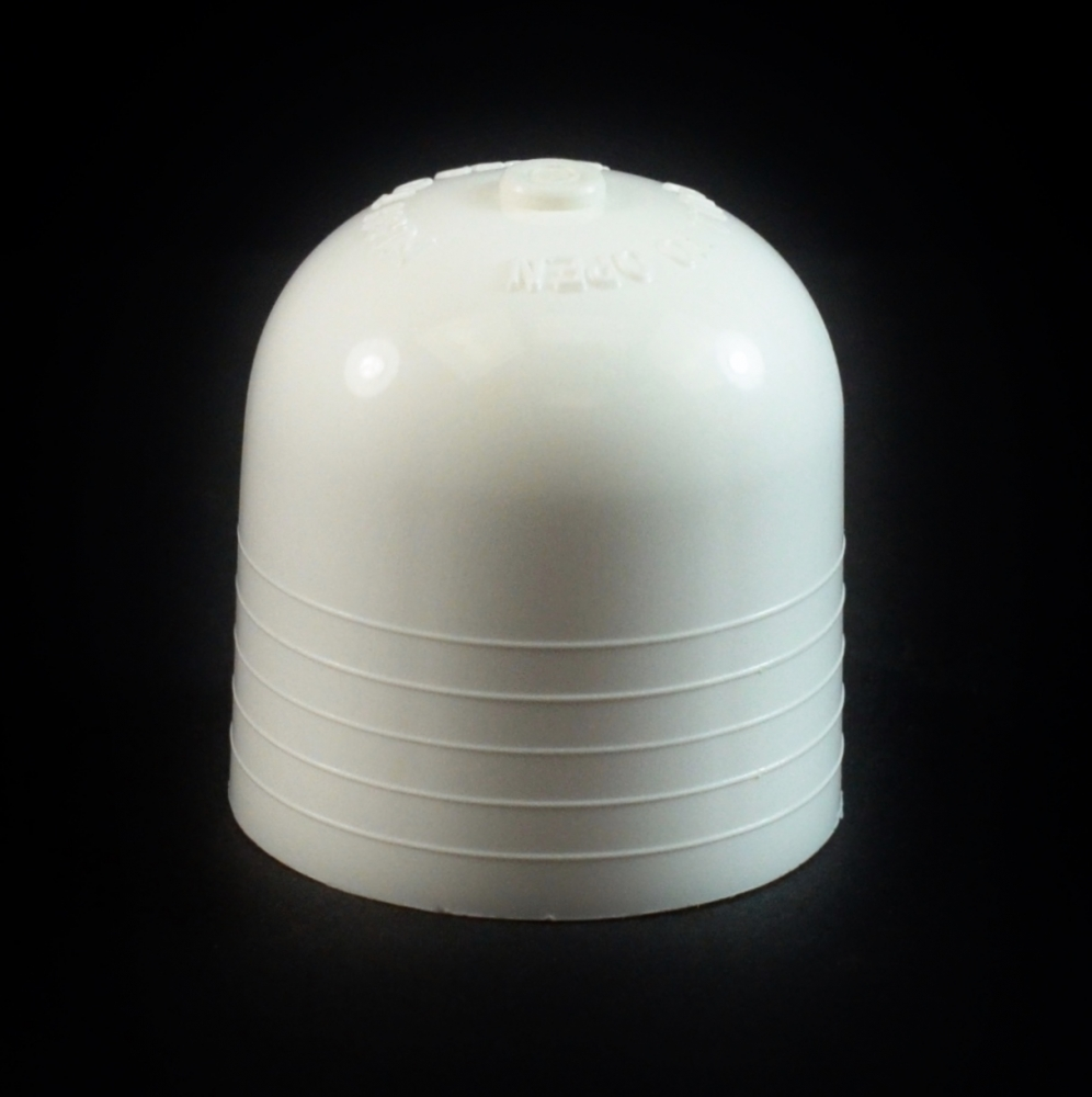 24/410 White Push Pull Dome Dispensing Symmetrical Cap to 2 oz #211
