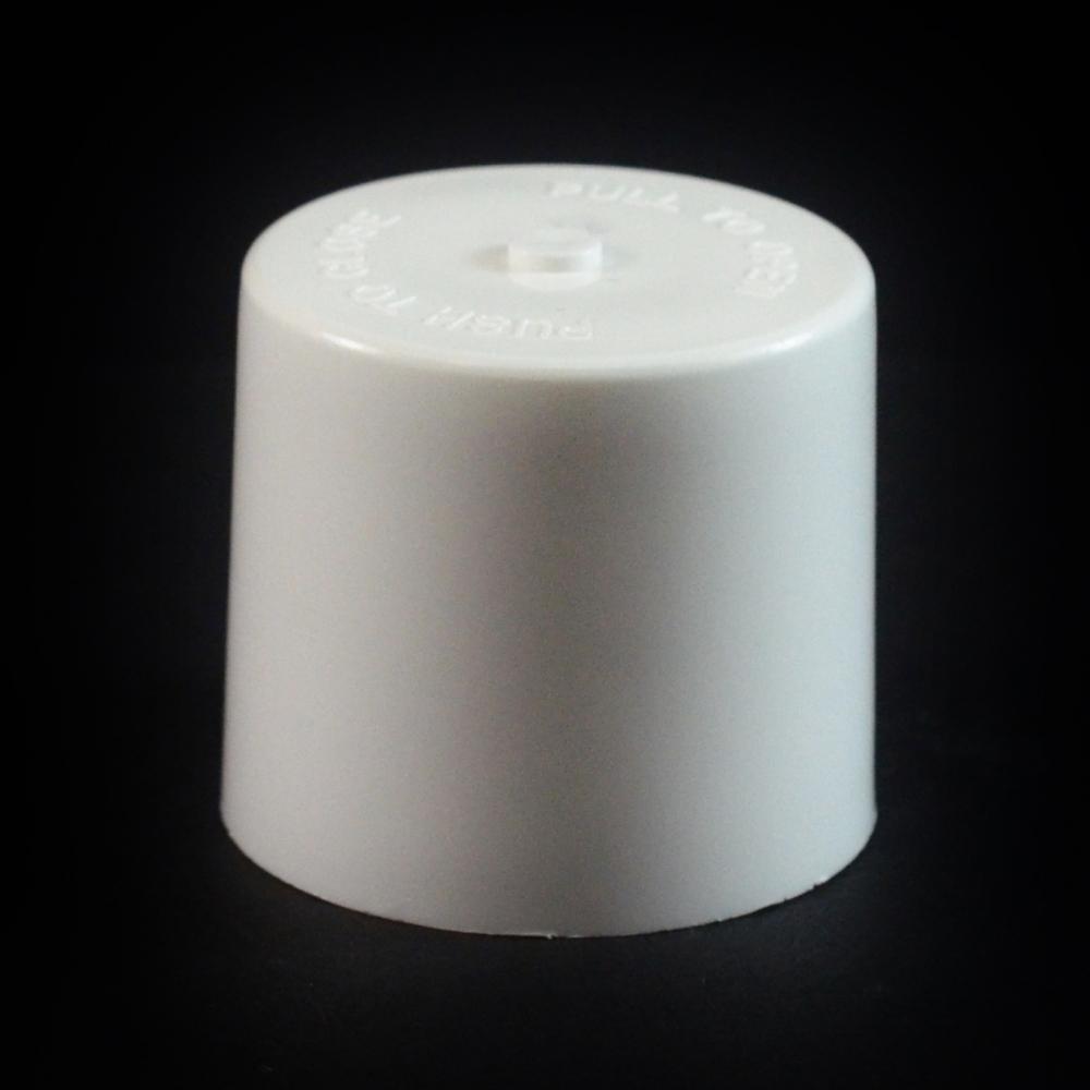 24/410 White Push Pull Flat Dispensing Symmetrical Cap to 4 oz #219