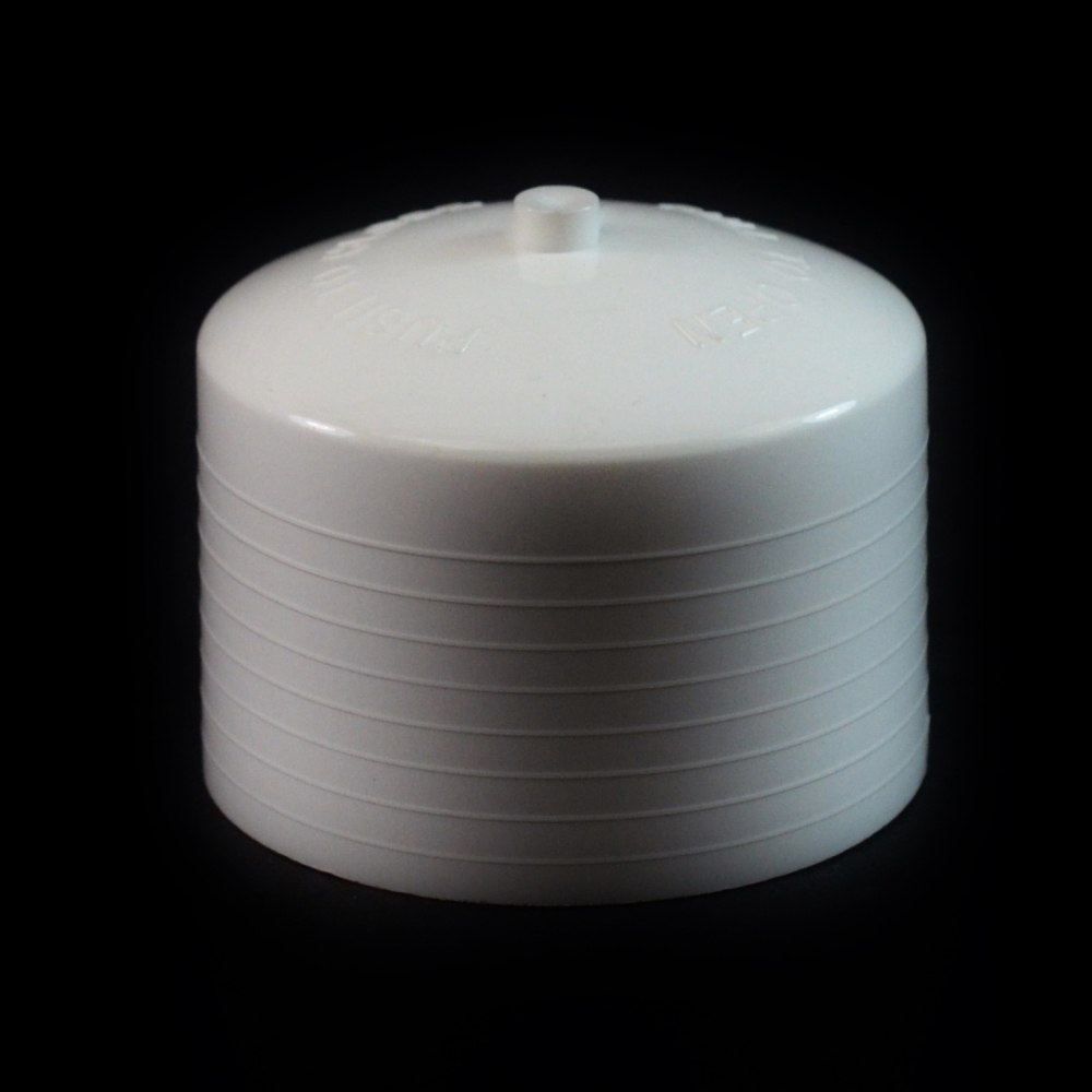 24/410 White Push Pull Convex Dispensing Symmetrical Cap to 8 oz #204