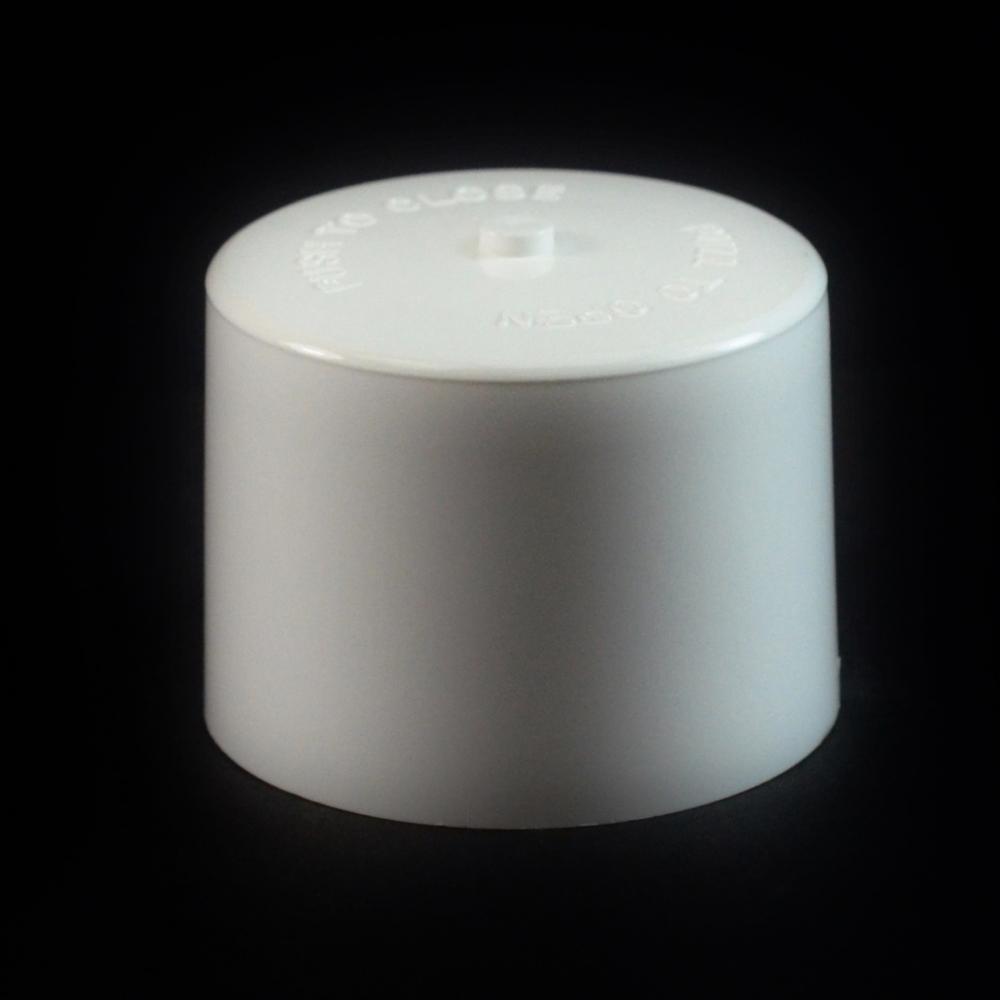 24/410 White Push Pull Flat Dispensing Symmetrical Cap to 8 oz #212