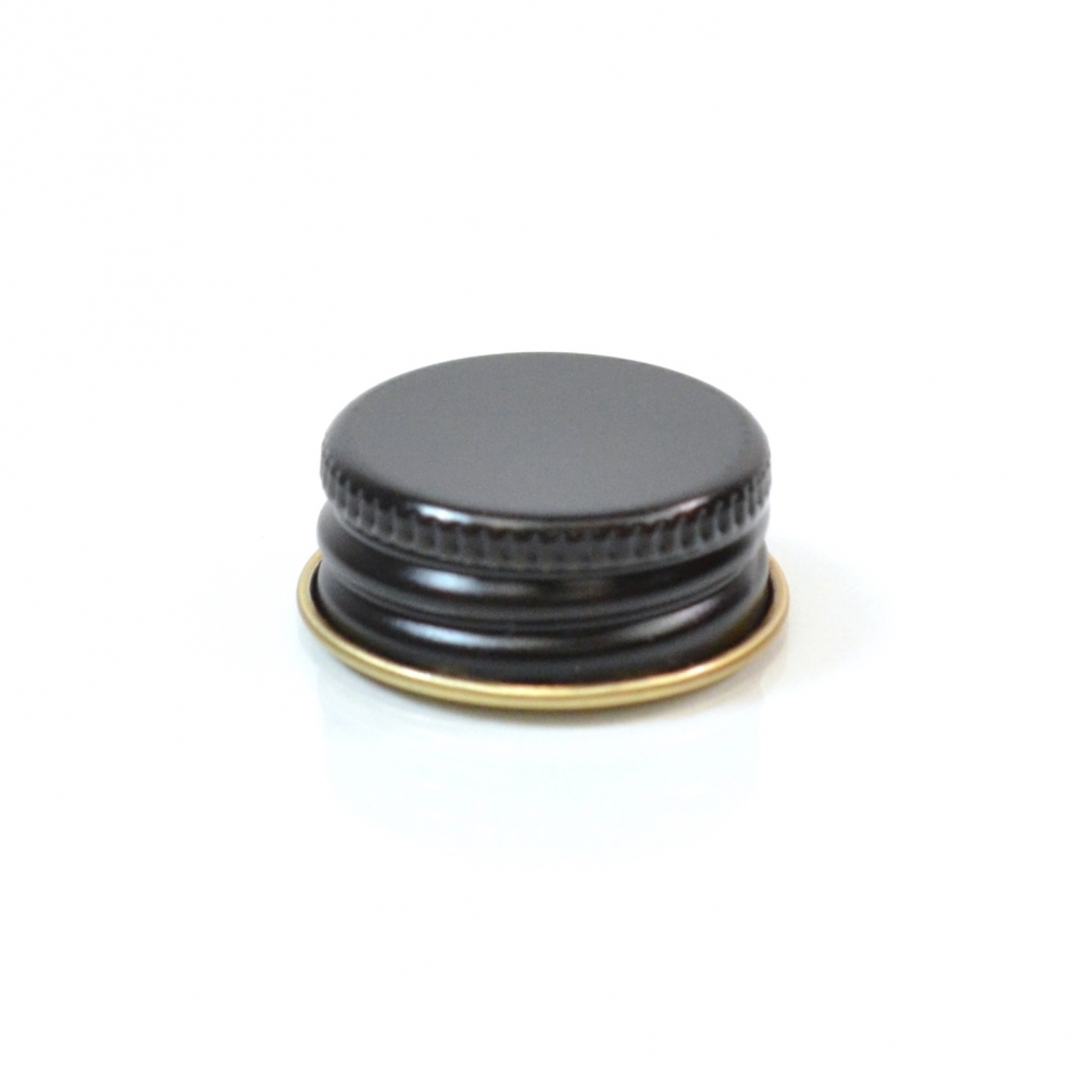 24/400 CT Black Gold Metal Continuous Thread Caps