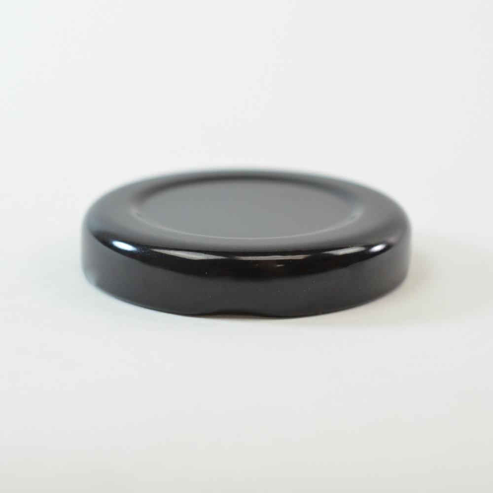 43/2010 Regular Twist Open Black Metal Cap / Plastisol Liner