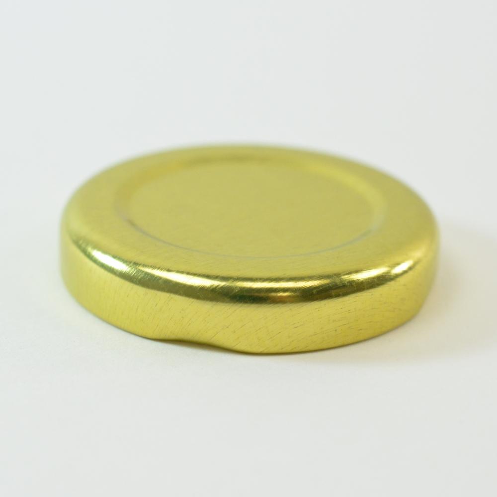 43/2010 Regular Twist Open Gold Metal Cap / Plastisol Liner