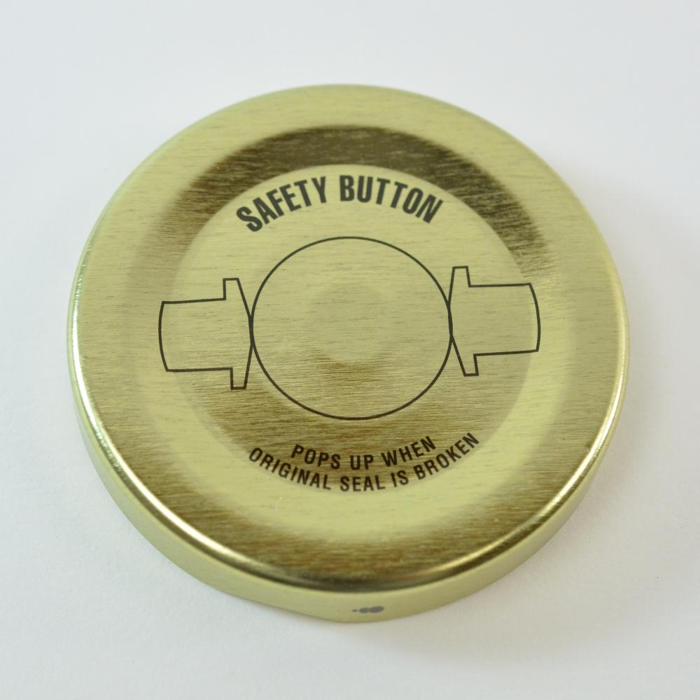 53/2020 Regular Twist Open with Button Generic Print Gold Metal Cap / Plastisol Liner