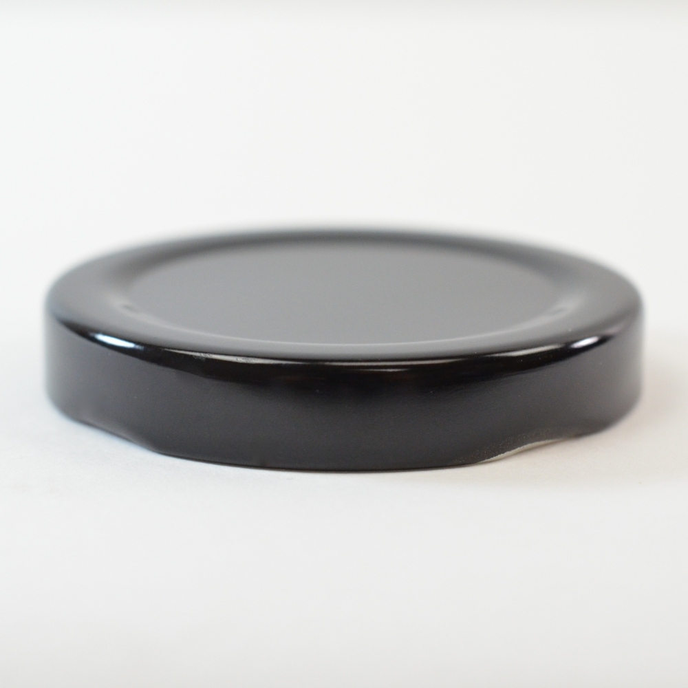 53/2020 Regular Twist Open Black Metal Cap / Plastisol Liner