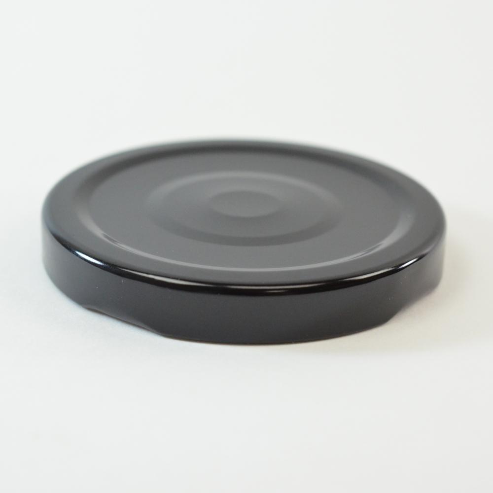 63/2030 Regular Twist Open with Button Black Metal Cap / Plastisol Liner