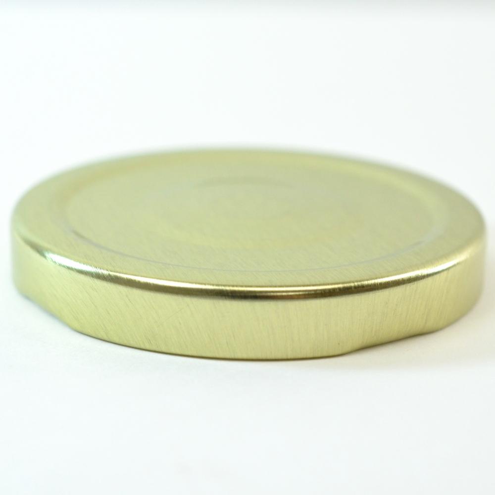 63/2030 Regular Twist Open with Button Gold Metal Cap / Plastisol Liner