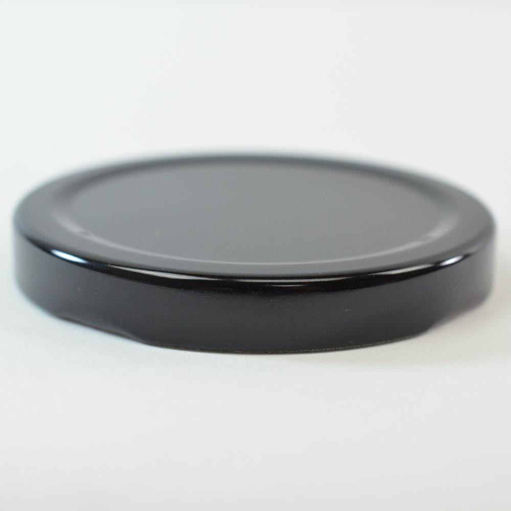 63/2030 Regular Twist Open Black Metal Cap / Plastisol Liner