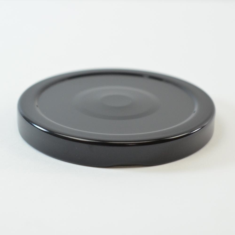 70/2030 Regular Twist Open with Button Black Metal Cap / Plastisol Liner