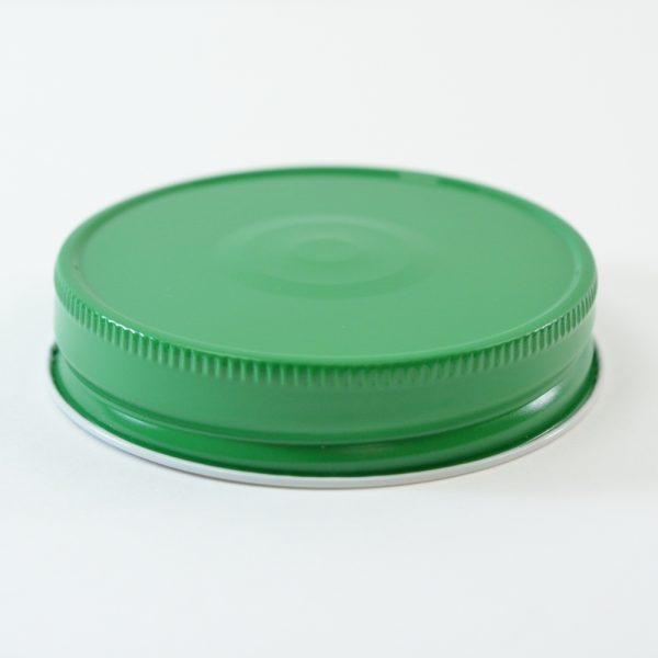 Tin Cap 70G-450 Green-White with Button_1763