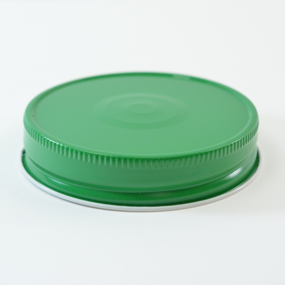 70G-450 Green-White with Button Metal Cap with Plastisol Liner