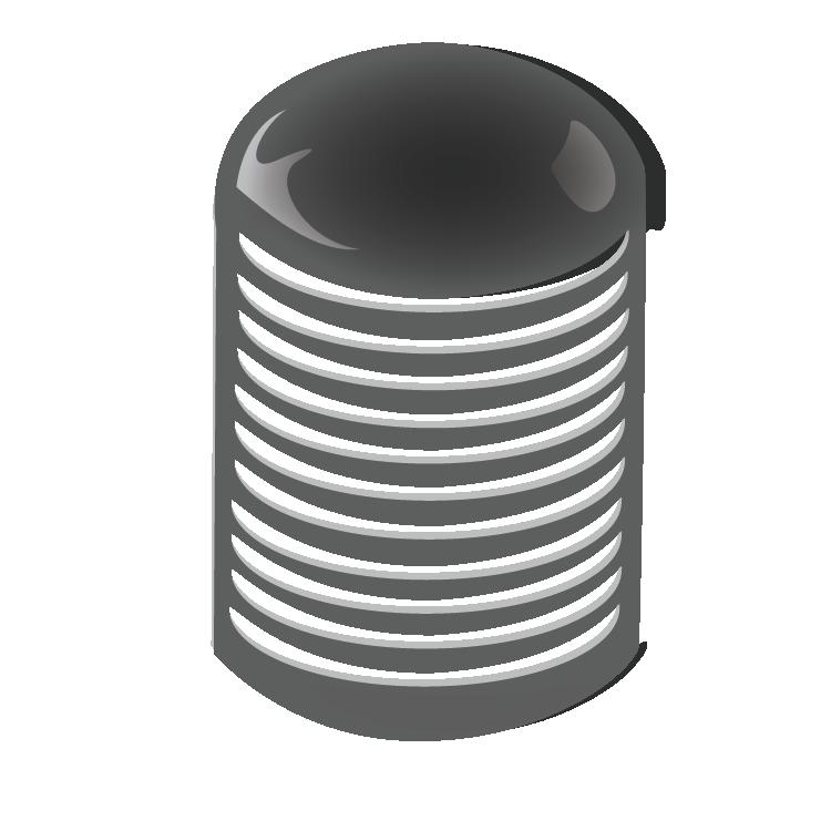 13/415 Black Phenolic Ring Cap F217