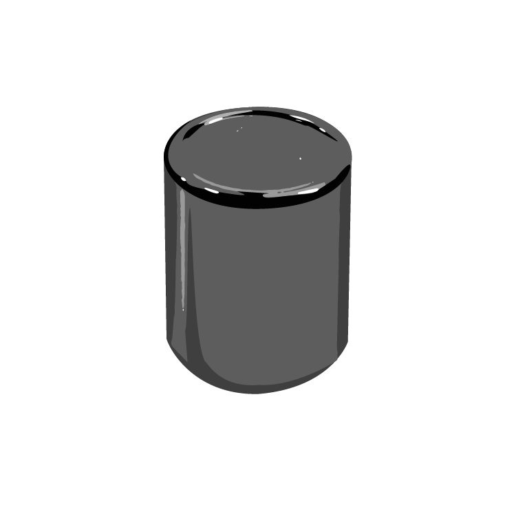 13/415 Black Phenolic Royal Cap F217