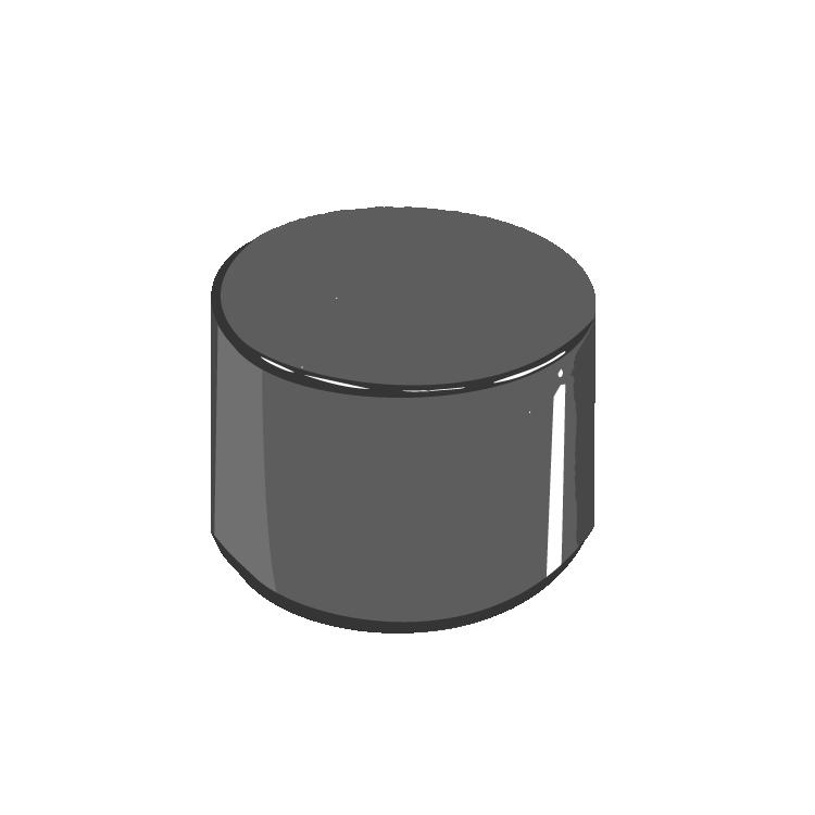 13/415 Black Phenolic Straight Cap F217