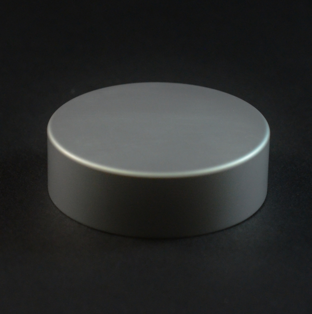 38/400 Matte Silver Metal Overshell Straight Sided Cap F217