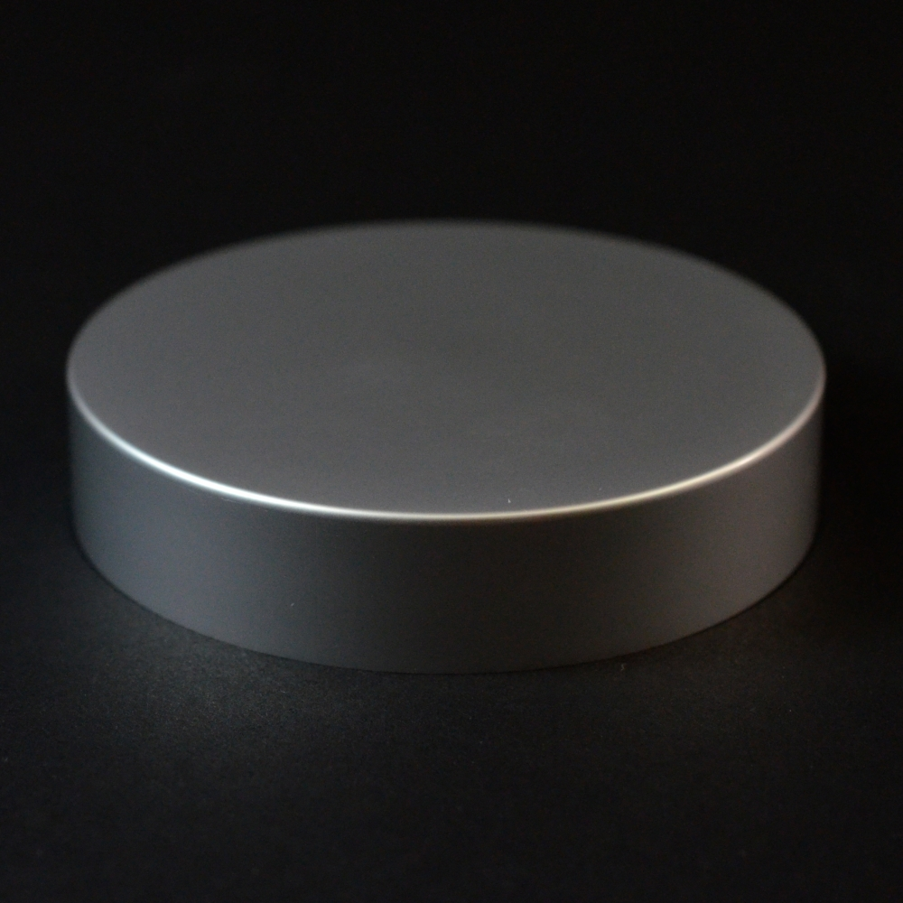 40/400 Matte Silver Metal Overshell Straight Sided Cap F217