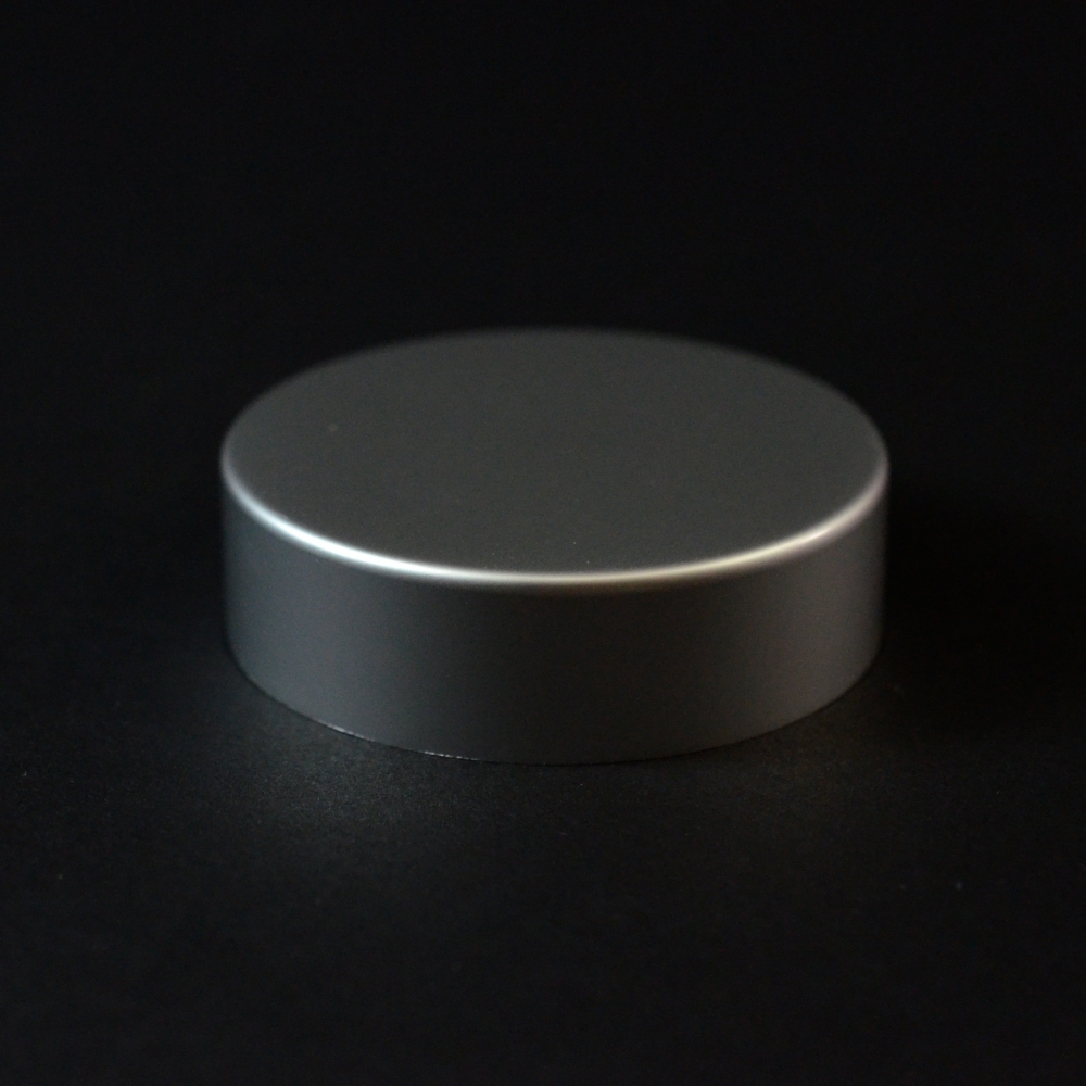 48/400 Matte Silver Metal Overshell Straight Sided Cap F217