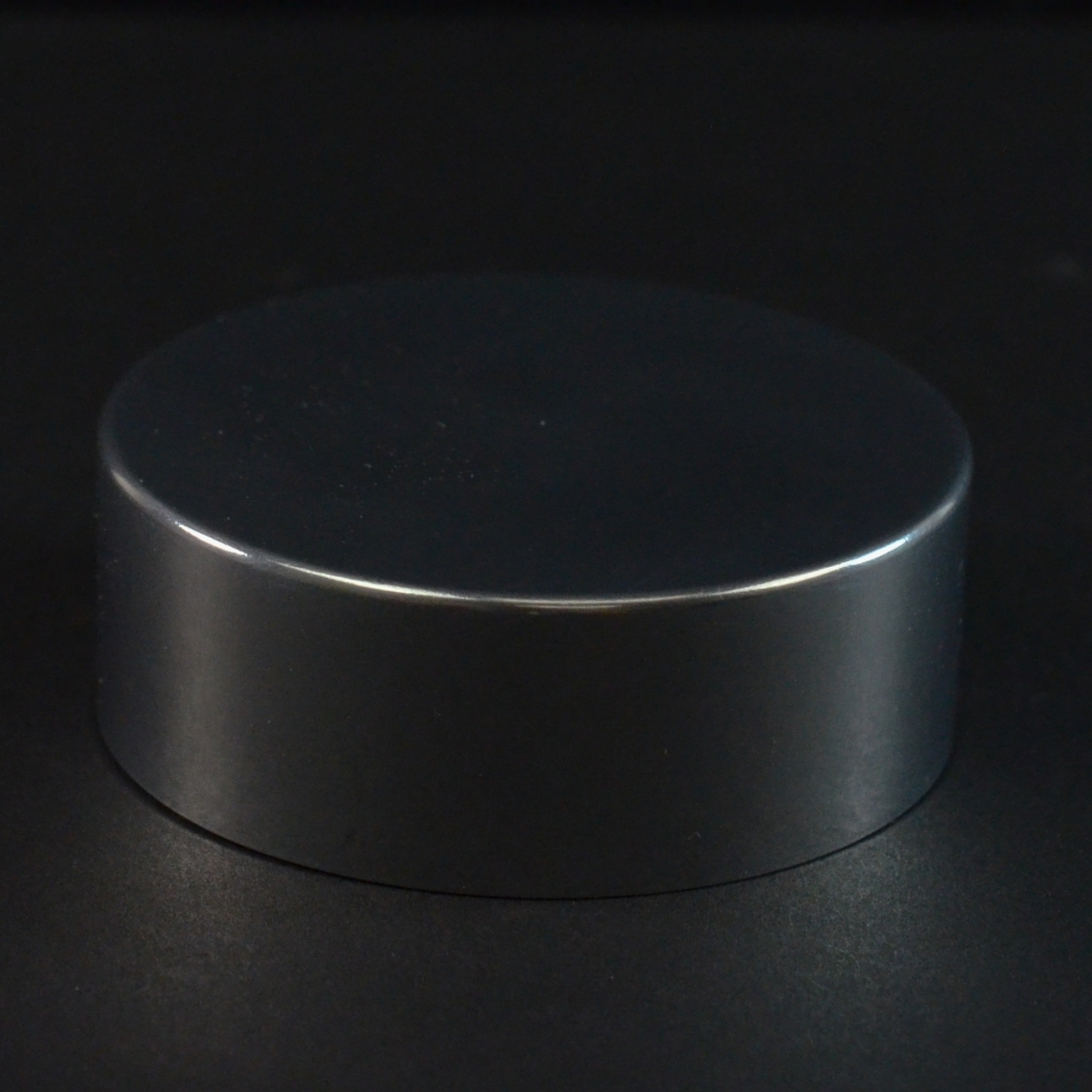 58/400 Shiny Silver Metal Overshell Straight Sided Cap F217