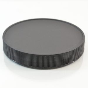 Plastic Cap 100mm Ribbed Black RM_2899