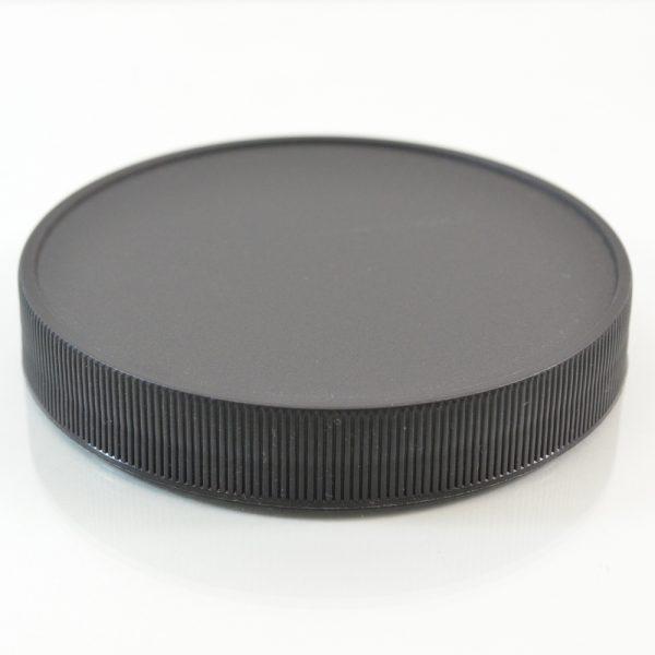 Plastic Cap 100mm Ribbed Black RM_2899