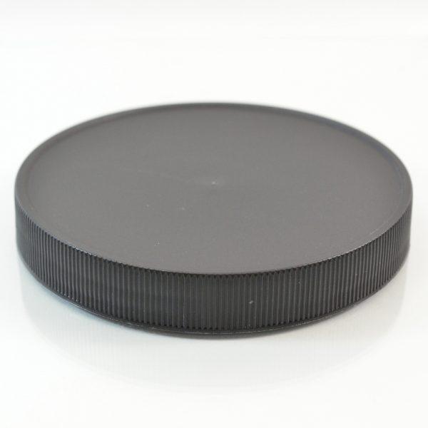 Plastic Cap 110mm Ribbed Black RM_2902