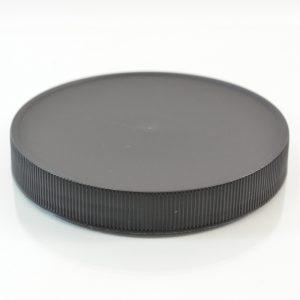 Plastic Cap 110mm Ribbed Black RM_2903