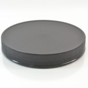 Plastic Cap 120mm Ribbed Black RM_2907