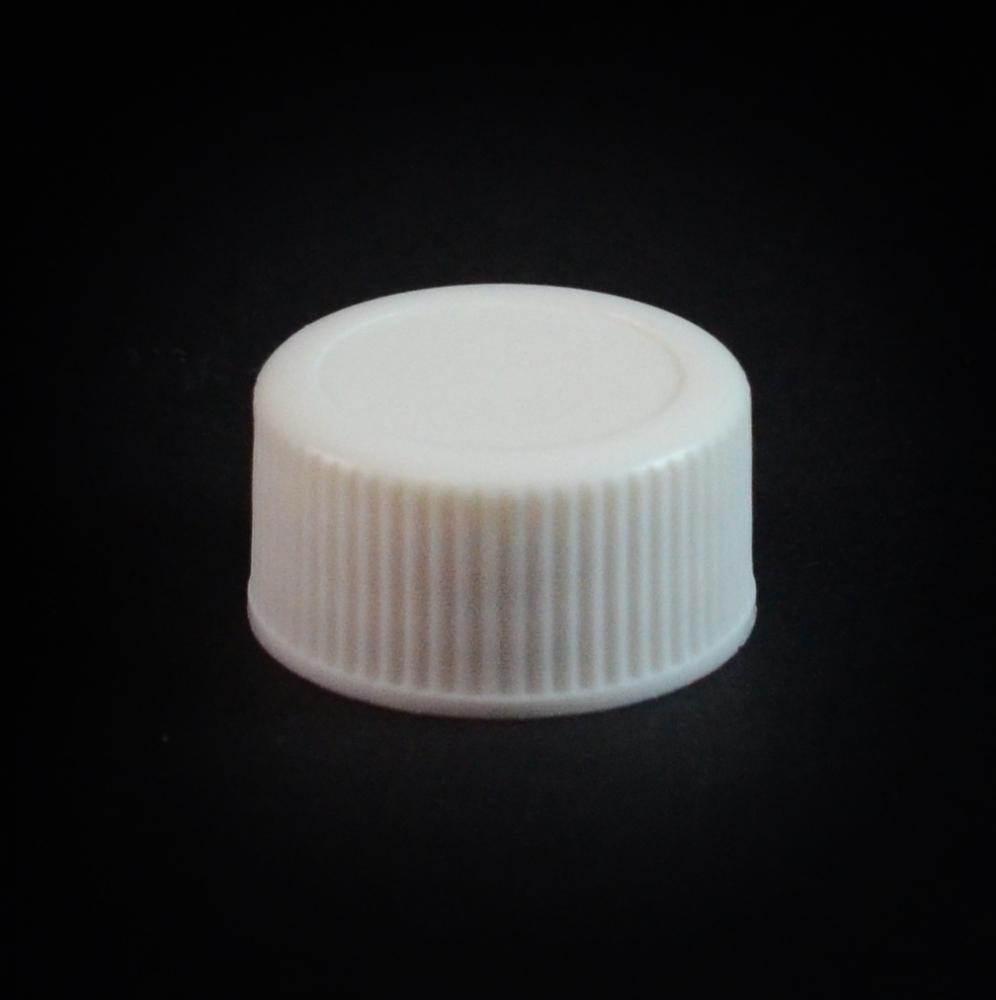 18/400 White Ribbed Straight PP Cap / F217 Liner