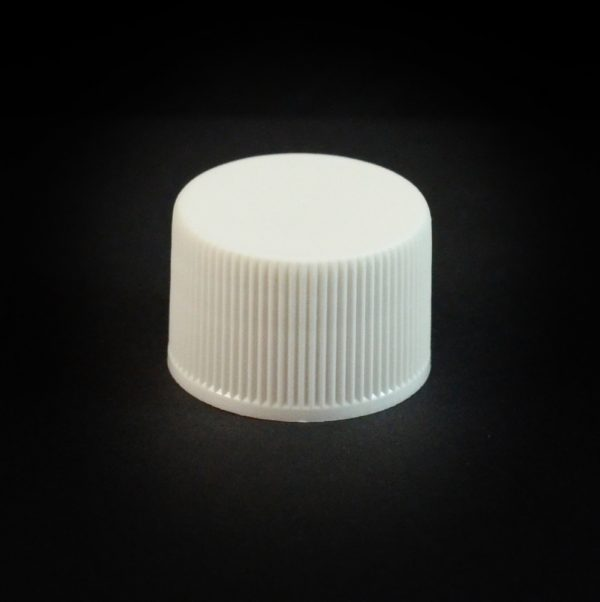 Plastic Cap 20-410 Ribbed White_2780