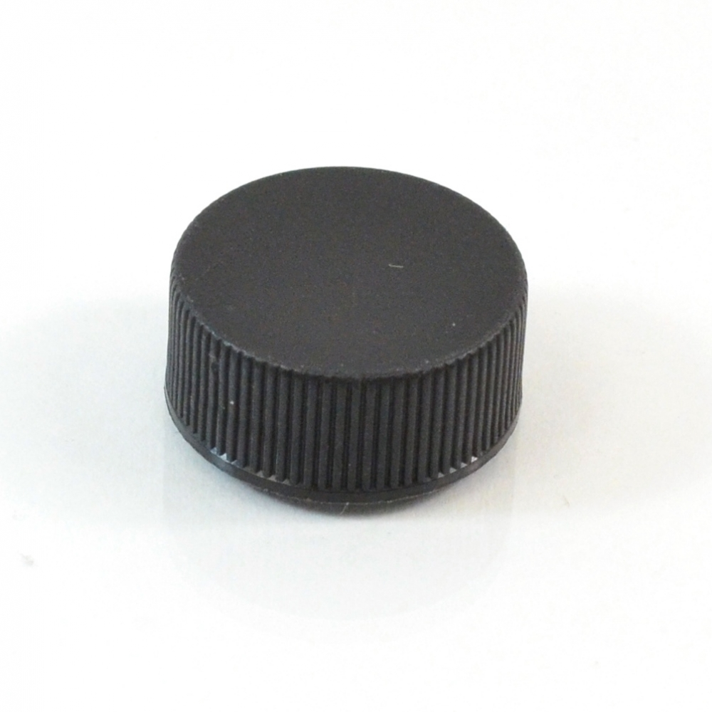 22/400 Black Ribbed Straight PP Cap / PS Liner