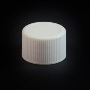 Plastic Cap 22-415 Ribbed White_2787