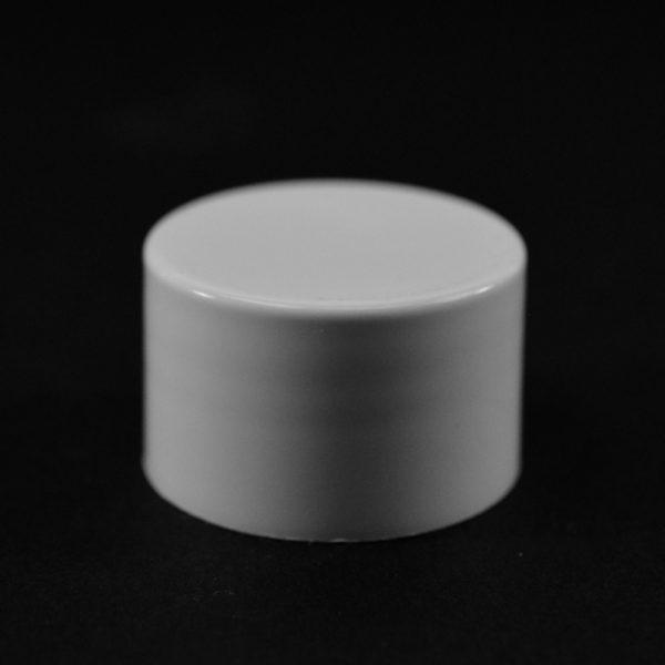 Plastic Cap 24-410 Smooth White PP_2658