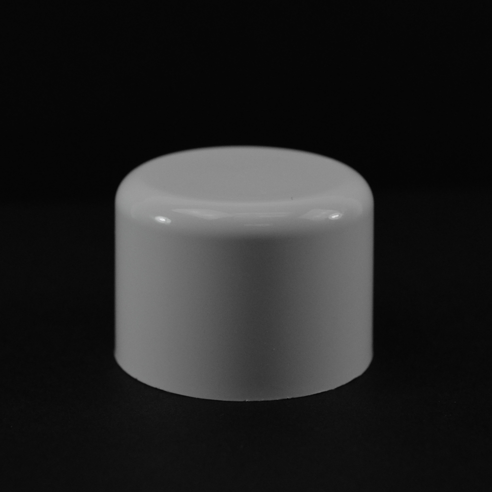 24/410 White Soft Shoulder Symmetrical Cap to 4 oz