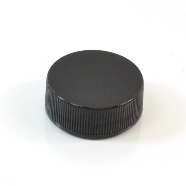 Plastic Cap 28-400 RS Black Ribbed_2862