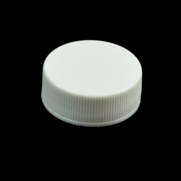 Plastic Cap 28-400 RS White Ribbed_2796