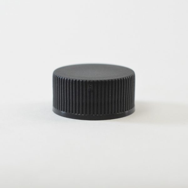 Plastic Cap 28-400 Ribbed Black_2860