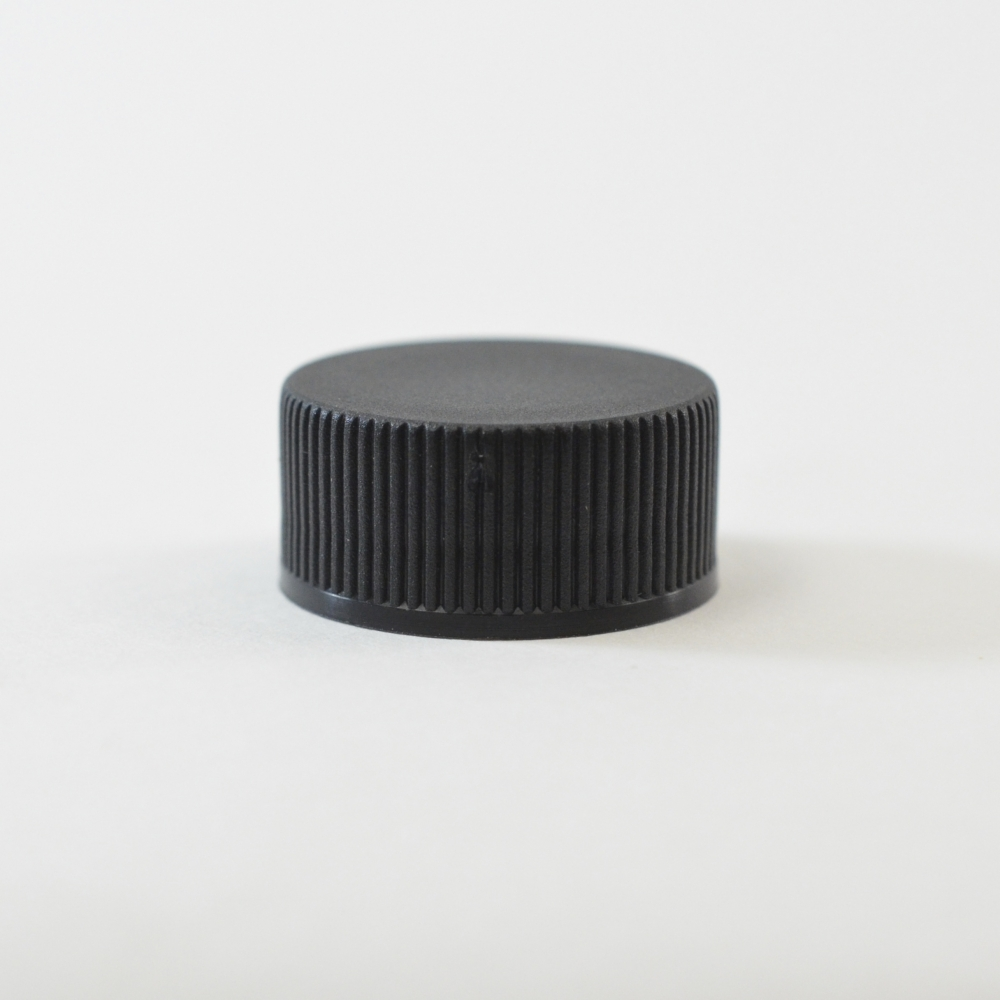 28/400 Black Ribbed Straight PP Cap / F217 Liner